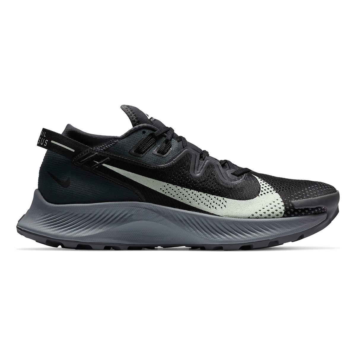 Men's Nike Pegasus Trail 2 Trail Running Shoe - Color: Black/Dark Smoke Grey/Particle Grey/Spruce Aura - Size: 6 - Width: Regular, Black/Dark Smoke Grey/Particle Grey/Spruce Aura, large, image 1