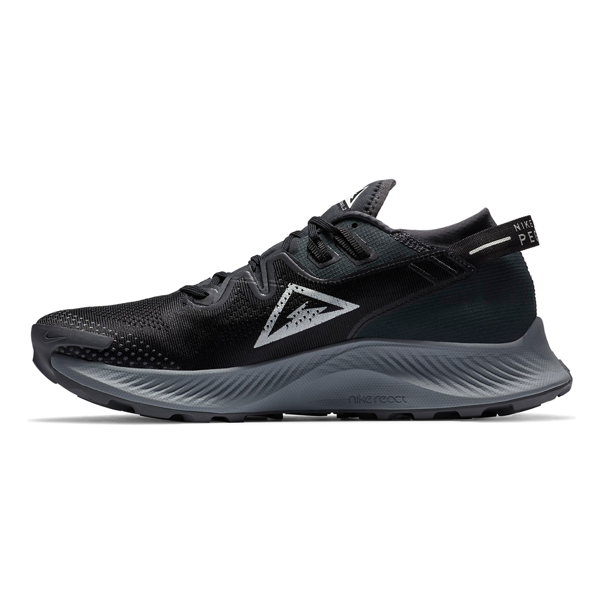 Men's Nike Pegasus Trail 2 Trail Running Shoe - Color: Black/Dark Smoke Grey/Particle Grey/Spruce Aura - Size: 6 - Width: Regular, Black/Dark Smoke Grey/Particle Grey/Spruce Aura, large, image 4