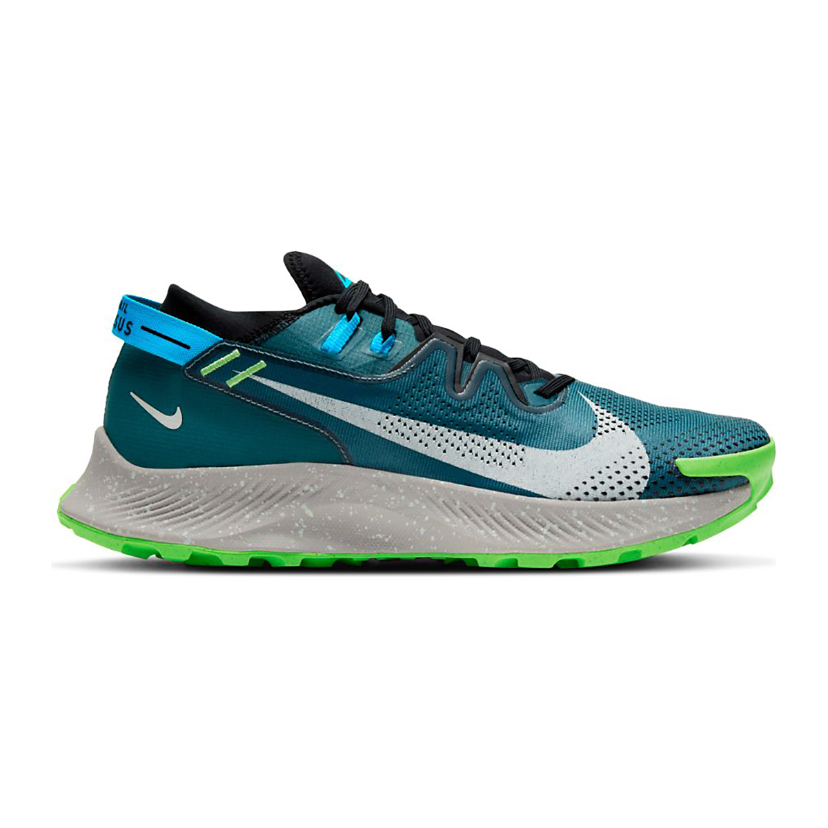 Men's Nike Nike Pegasus Trail 2 Trail Running Shoe - Color: Dark Teal Green/Silver/Black - Size: 6 - Width: Regular, Dark Teal Green/Silver/Black, large, image 1