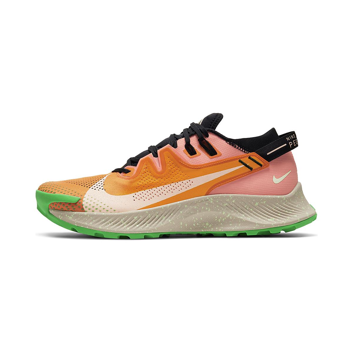 Men's Nike Pegasus Trail 2 Trail Running Shoe - Color: Kumquat/Crimson - Size: 6 - Width: Regular, Kumquat/Crimson, large, image 2