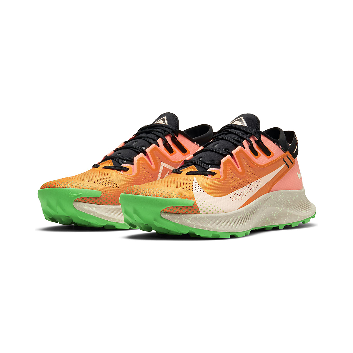 Men's Nike Pegasus Trail 2 Trail Running Shoe - Color: Kumquat/Crimson - Size: 6 - Width: Regular, Kumquat/Crimson, large, image 3