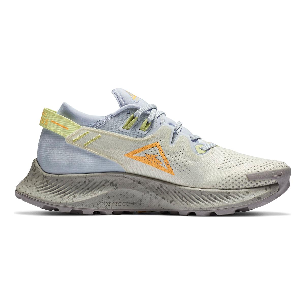 Women's Nike Pegasus Trail 2 Trail Running Shoe - Color: Pure Platinum/Fossil/Limelight/Laser Orange - Size: 5 - Width: Regular, Pure Platinum/Fossil/Limelight/Laser Orange, large, image 2