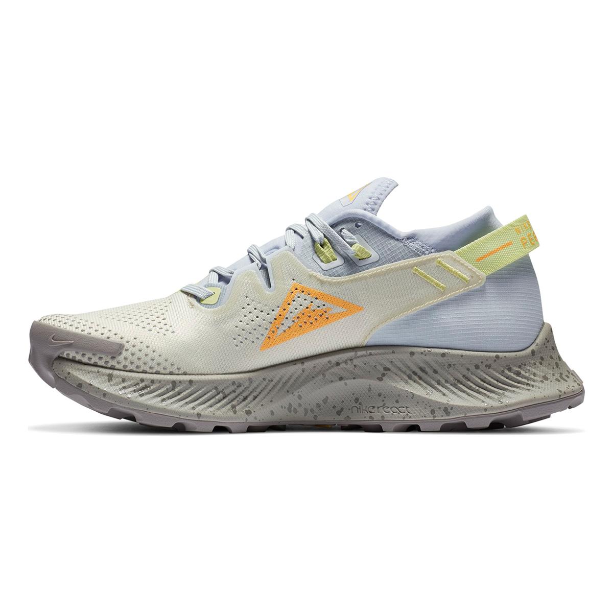 Women's Nike Pegasus Trail 2 Trail Running Shoe - Color: Pure Platinum/Fossil/Limelight/Laser Orange - Size: 5 - Width: Regular, Pure Platinum/Fossil/Limelight/Laser Orange, large, image 4