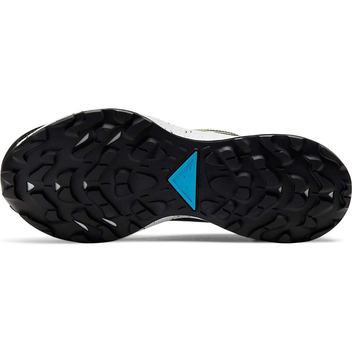 Women's Nike Pegasus Trail 2 Trail Running Shoe - Color: Off Noir/Limelight-Laser Blue - Size: 5 - Width: Regular, Off Noir/Limelight-Laser Blue, large, image 4