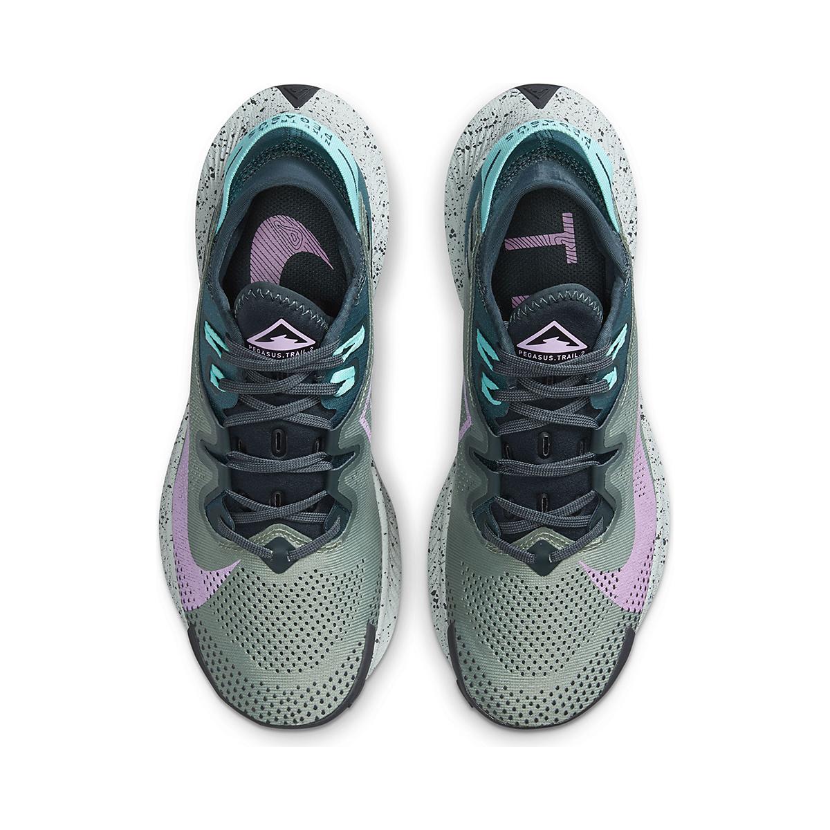 Women's Nike Pegasus Trail 2 Trail Running Shoe - Color: Seaweed/Beyond - Size: 5 - Width: Regular, Seaweed/Beyond, large, image 4