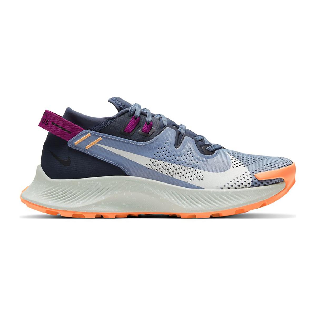 Women's Nike Pegasus Trail 2 Trail Running Shoe - Color: Thunder Blue/Photon Dust/Ashen Slate - Size: 5 - Width: Regular, Thunder Blue/Photon Dust/Ashen Slate, large, image 1