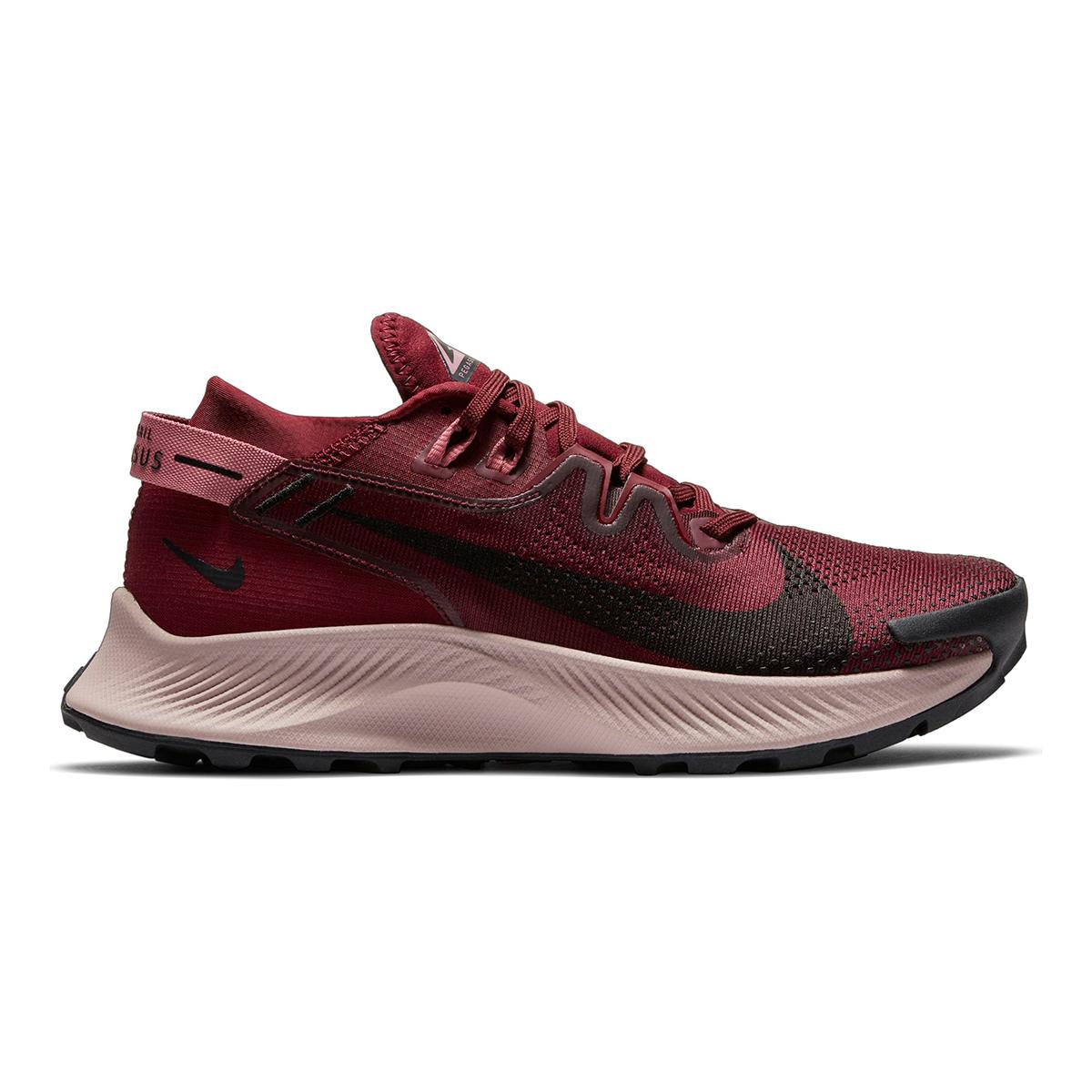 Women's Nike Pegasus Trail 2 Trail Running Shoe - Color: Dark Beetroot/Desert Berry/Platinum Tint/Black - Size: 5 - Width: Regular, Dark Beetroot/Desert Berry/Platinum Tint/Black, large, image 1