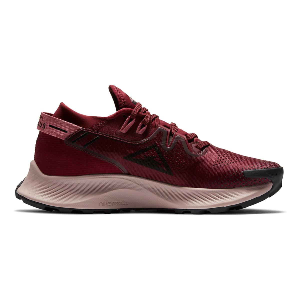 Women's Nike Pegasus Trail 2 Trail Running Shoe - Color: Dark Beetroot/Desert Berry/Platinum Tint/Black - Size: 5 - Width: Regular, Dark Beetroot/Desert Berry/Platinum Tint/Black, large, image 2