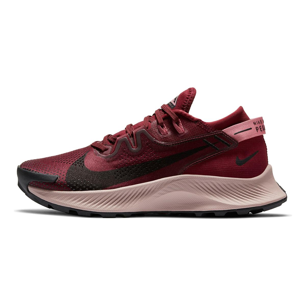 Women's Nike Pegasus Trail 2 Trail Running Shoe - Color: Dark Beetroot/Desert Berry/Platinum Tint/Black - Size: 5 - Width: Regular, Dark Beetroot/Desert Berry/Platinum Tint/Black, large, image 3