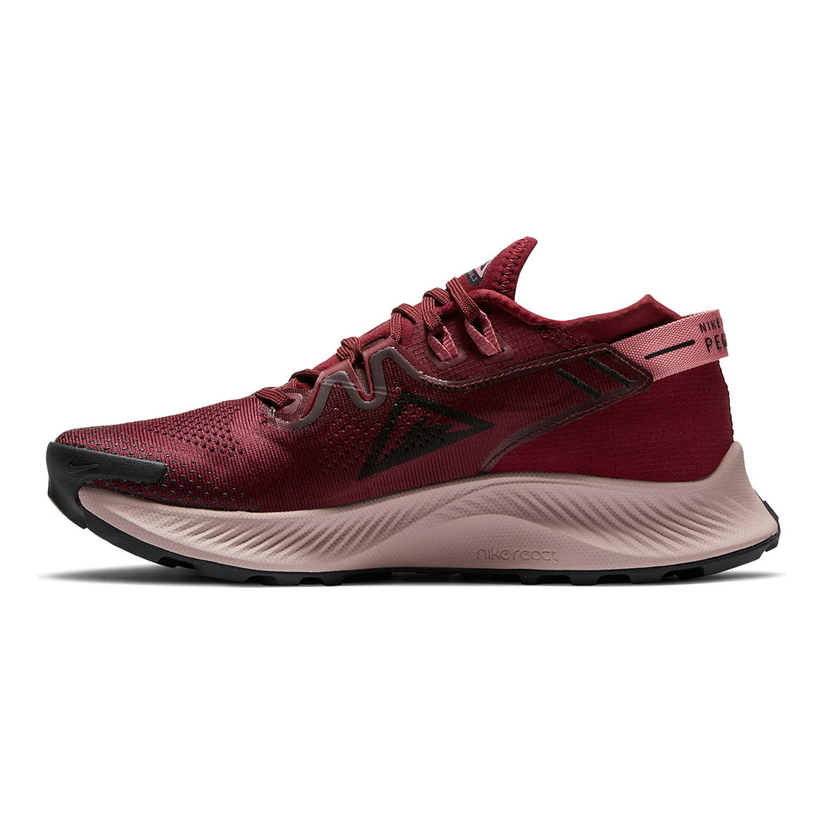 Women's Nike Pegasus Trail 2 Trail Running Shoe - Color: Dark Beetroot/Desert Berry/Platinum Tint/Black - Size: 5 - Width: Regular, Dark Beetroot/Desert Berry/Platinum Tint/Black, large, image 4