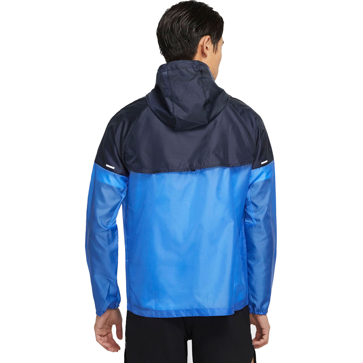 Men's Nike Windrunner Running Jacket - Color: Pacific Blue/Obsidian/Reflective Silver - Size: S, Pacific Blue/Obsidian/Reflective Silver, large, image 2
