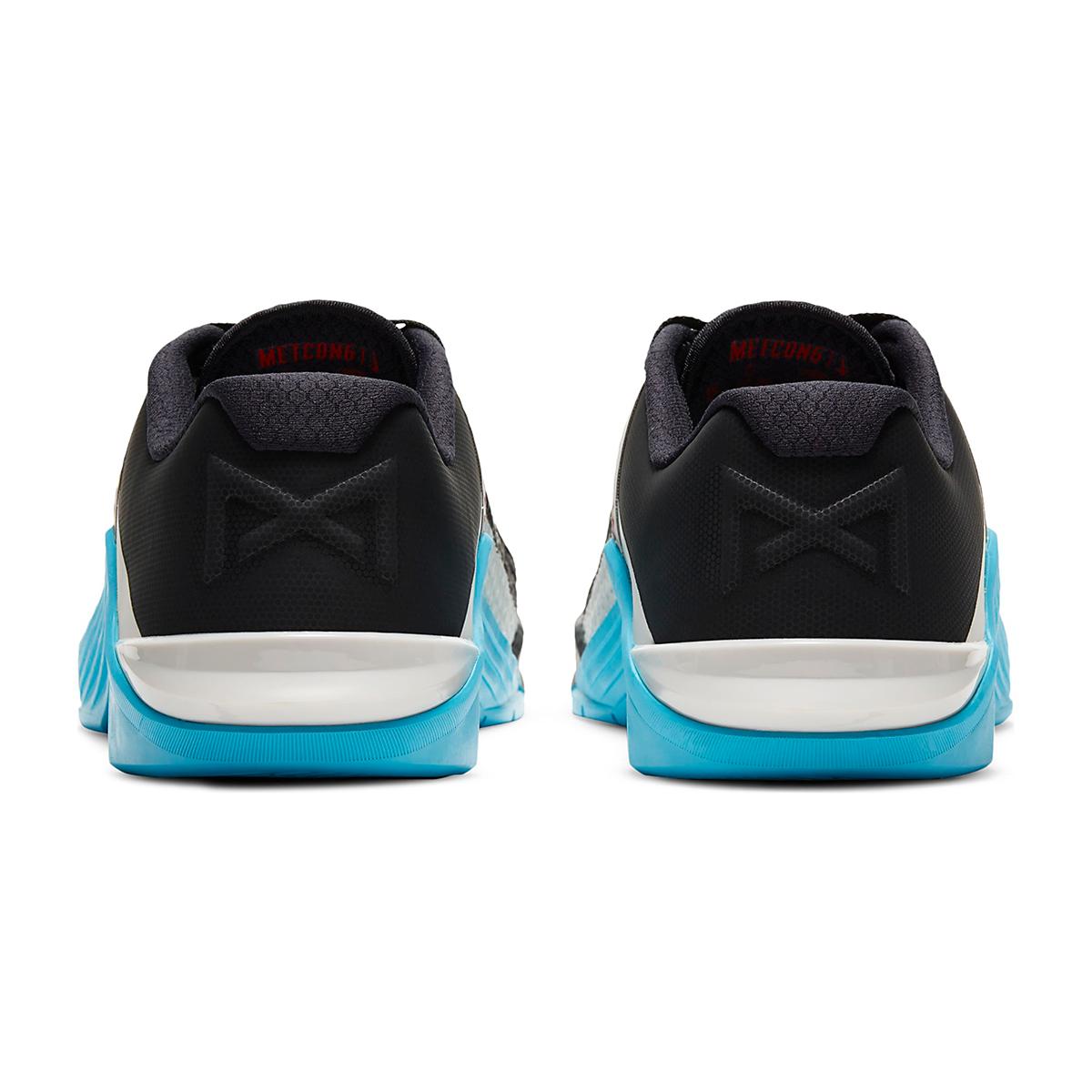Men's Nike Metcon 6 Training Shoes - Color: Black/University Red/Light Blue Fury - Size: 5 - Width: Regular, Black/University Red/Light Blue Fury, large, image 5