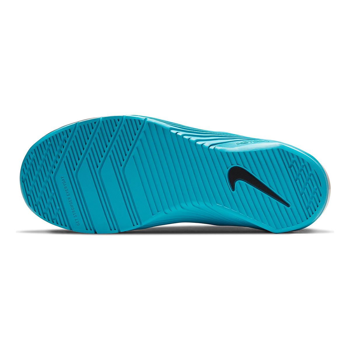 Men's Nike Metcon 6 Training Shoes - Color: Black/University Red/Light Blue Fury - Size: 5 - Width: Regular, Black/University Red/Light Blue Fury, large, image 6