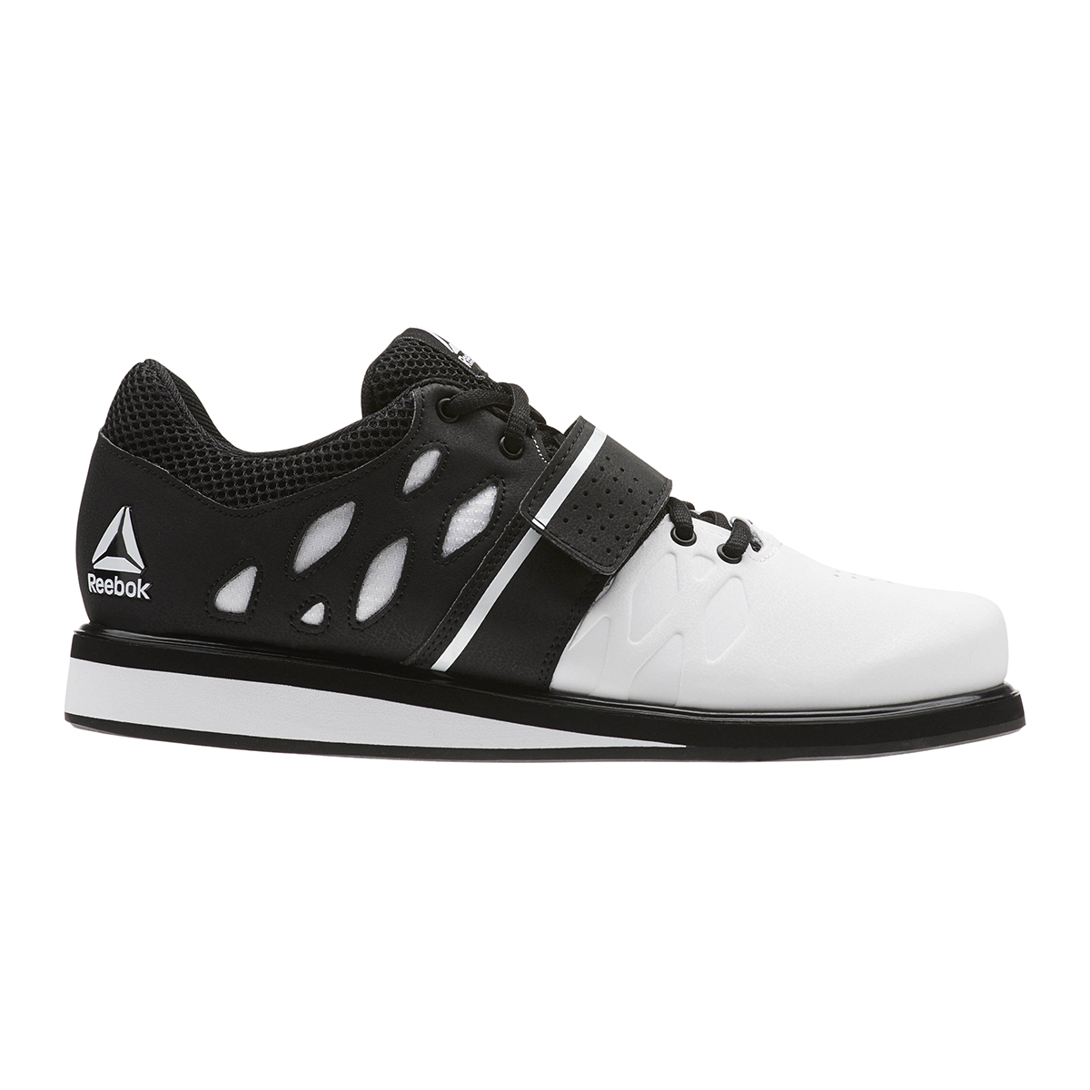 Reebok Lifter PR Training Shoes - Color: White/Black (Regular Width) - Size: 6.5, White/Black, large, image 1