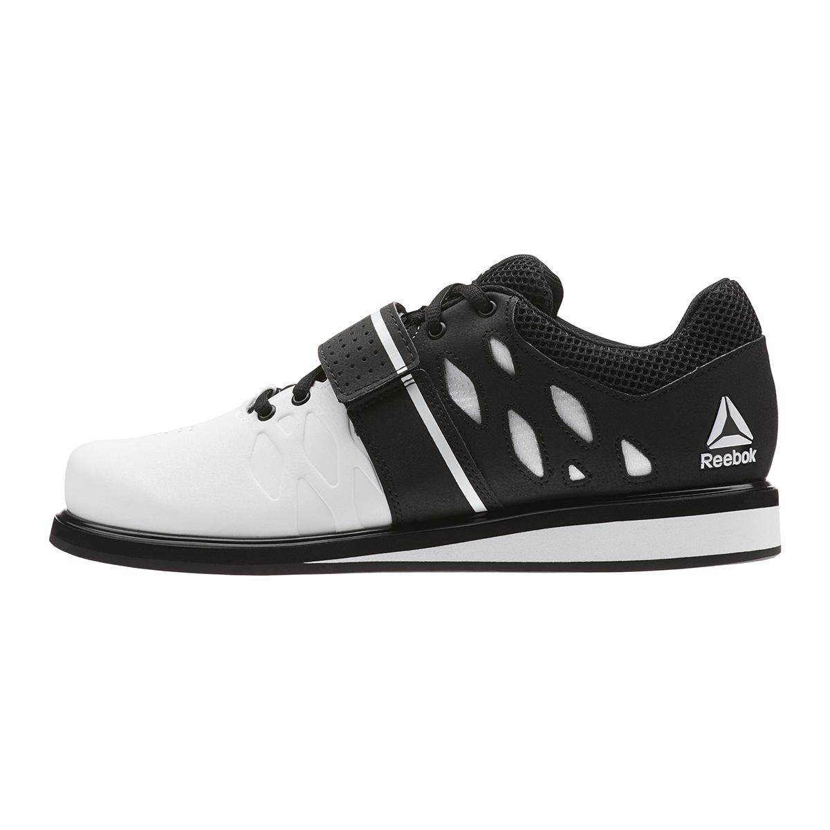 Reebok Lifter PR Training Shoes - Color: White/Black (Regular Width) - Size: 6.5, White/Black, large, image 2