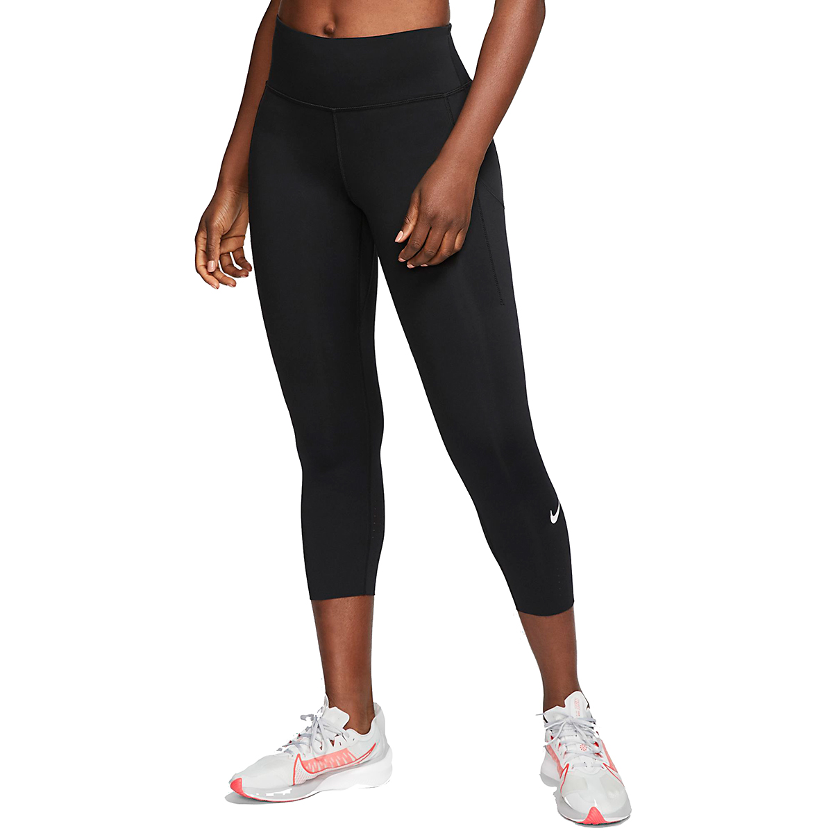 Women's Nike Epic Luxe Crop Tights - Color: Black - Size: XS, Black, large, image 1