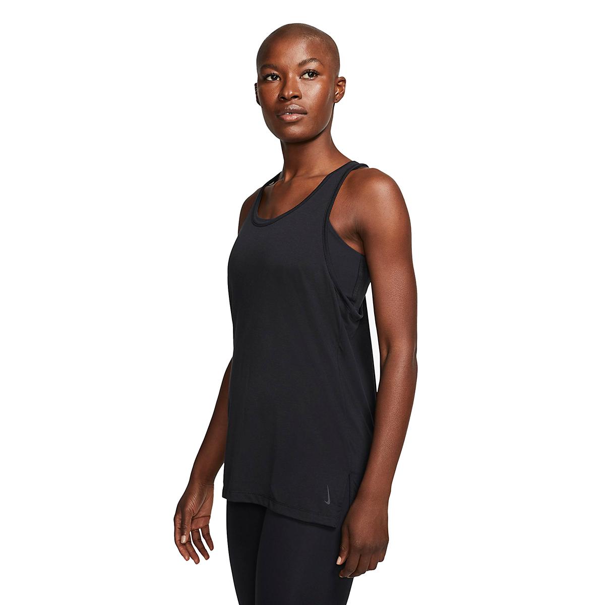Women's Nike Yoga Layer Tank - Color: Black/Dark Smoke Grey - Size: XS, Black/Dark Smoke Grey, large, image 2