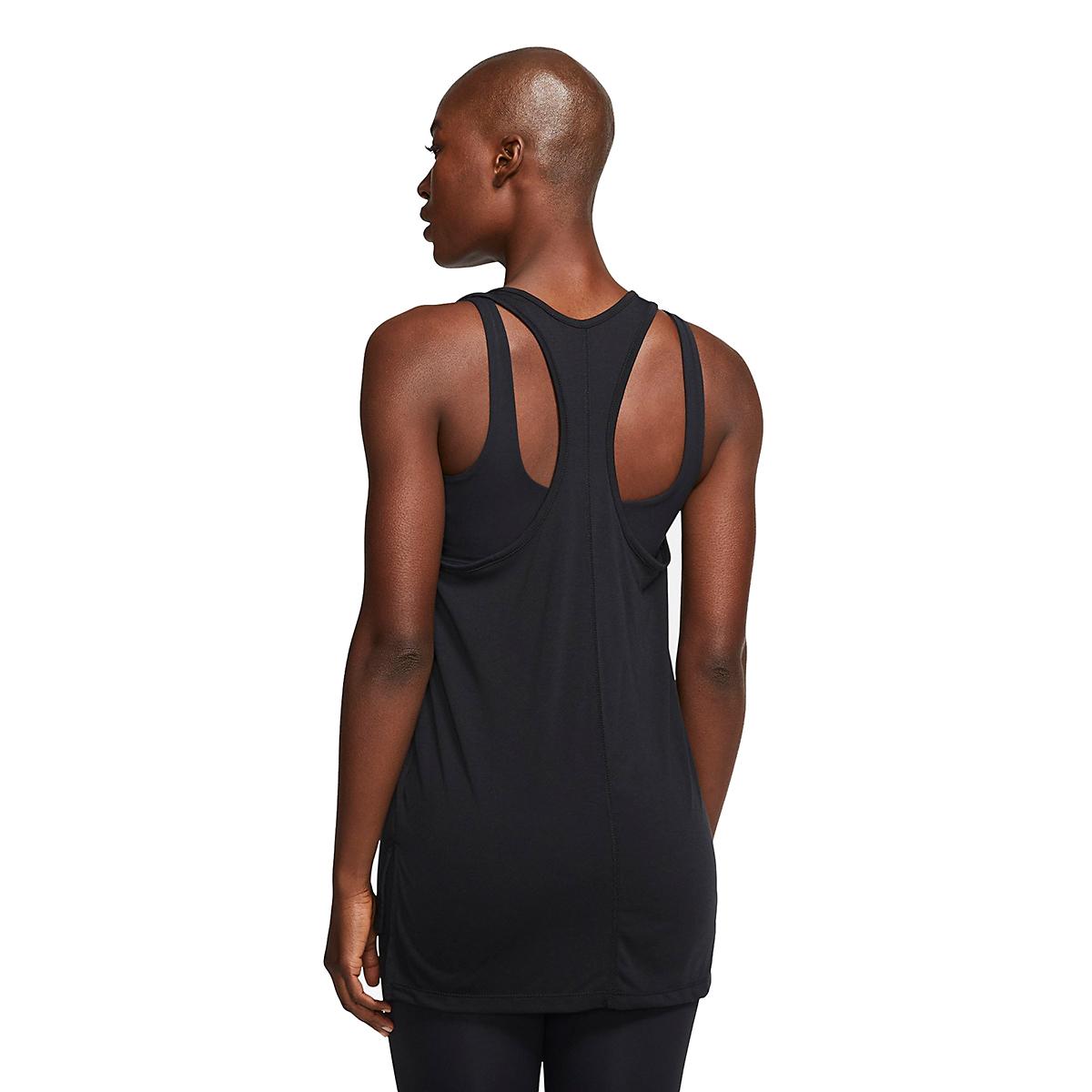 Women's Nike Yoga Layer Tank - Color: Black/Dark Smoke Grey - Size: XS, Black/Dark Smoke Grey, large, image 4