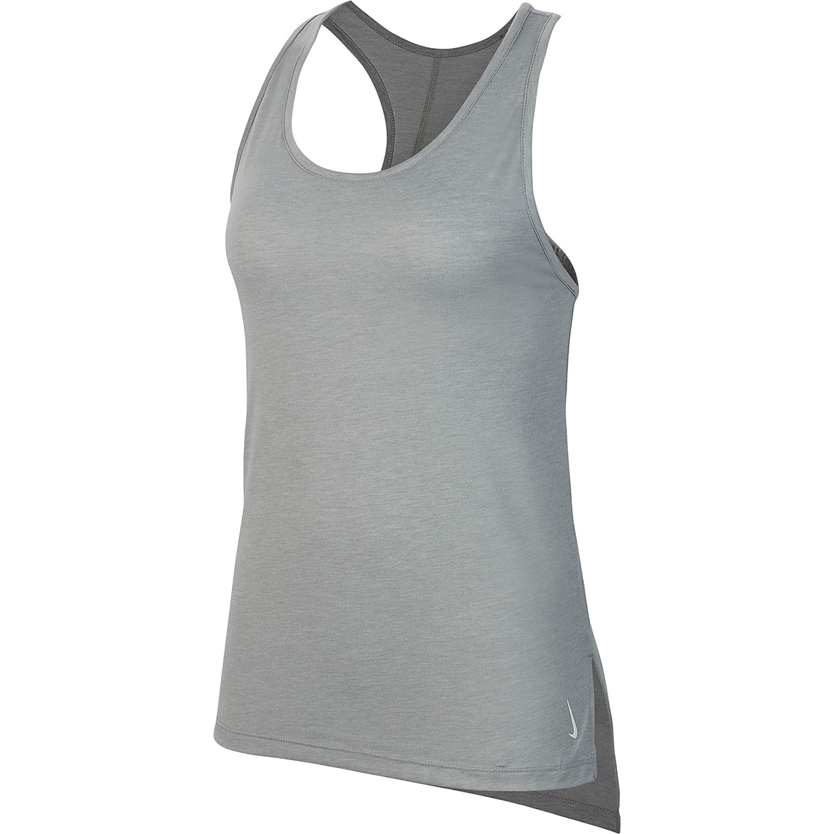 Women's Nike Yoga Layer Tank - Color: Particle Grey/Heather/Platinim Tint - Size: XS, Particle Grey/Heather/Platinim Tint, large, image 3