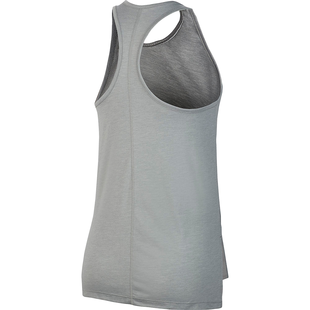 Women's Nike Yoga Layer Tank - Color: Particle Grey/Heather/Platinim Tint - Size: XS, Particle Grey/Heather/Platinim Tint, large, image 4