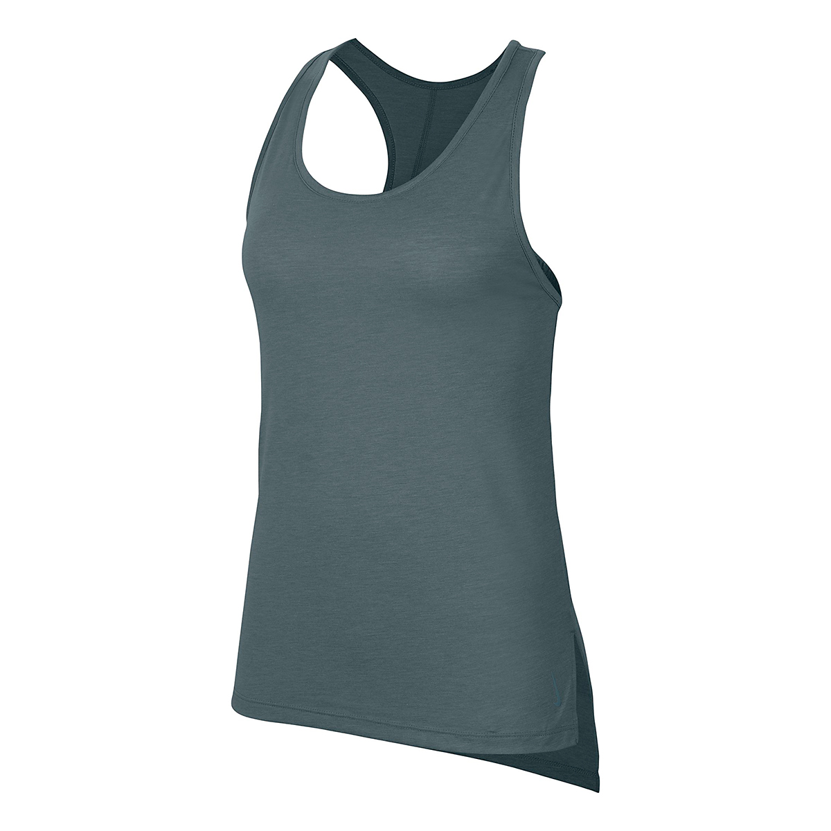 Women's Nike Yoga Layer Tank - Color: Hasta/Heather/Light Pumice/Dark Teal Green - Size: XS, Hasta/Heather/Light Pumice/Dark Teal Green, large, image 2