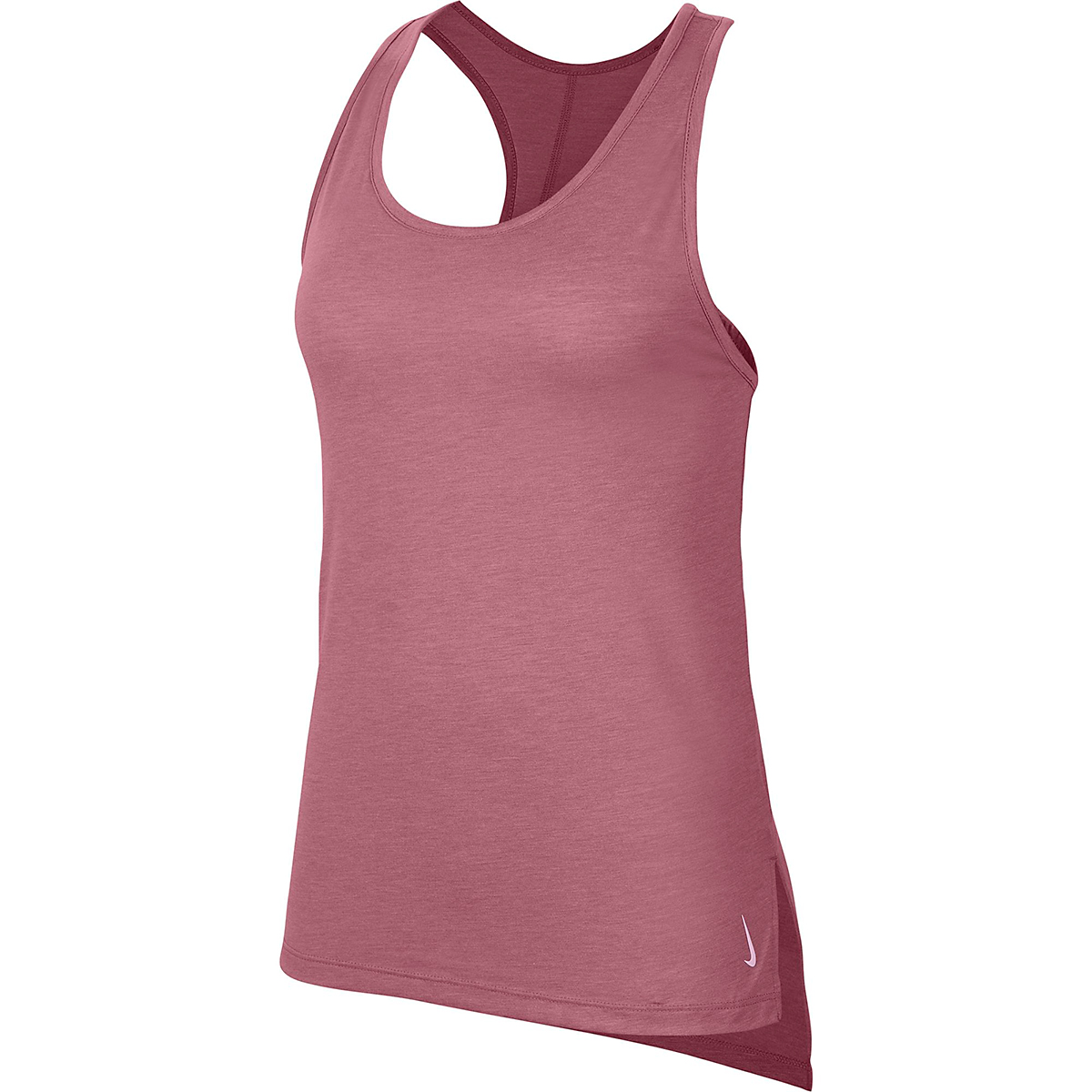 Women's Nike Yoga Layer Tank - Color: Desert Berry/Heather/Lite Arctic Pink - Size: M, Desert Berry/Heather/Lite Arctic Pink, large, image 3