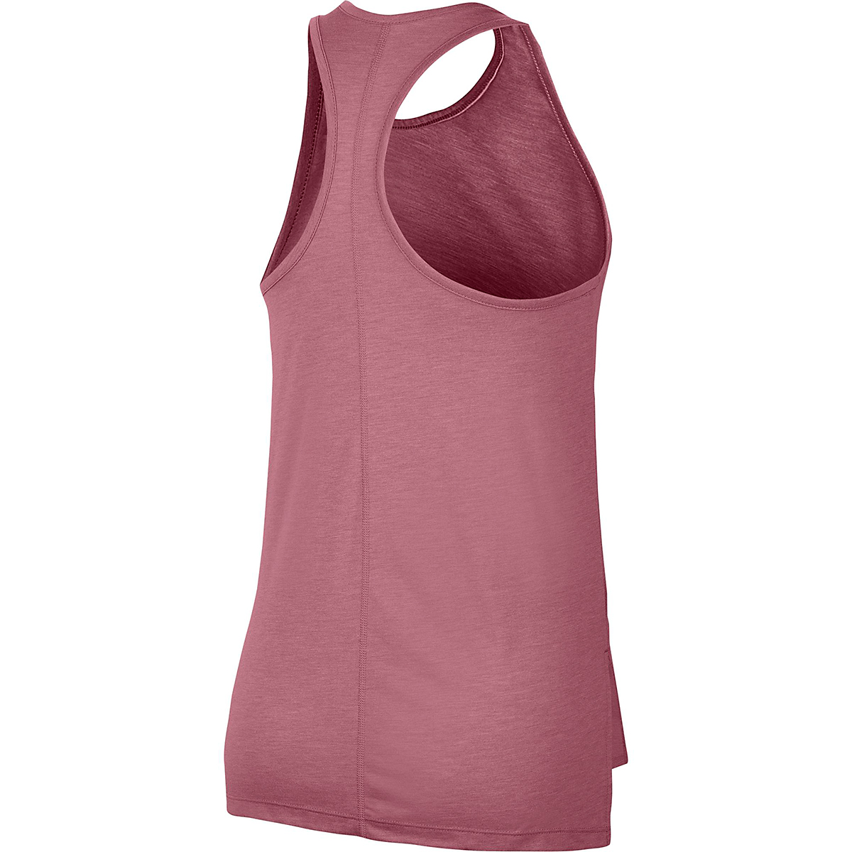 Women's Nike Yoga Layer Tank - Color: Desert Berry/Heather/Lite Arctic Pink - Size: M, Desert Berry/Heather/Lite Arctic Pink, large, image 4