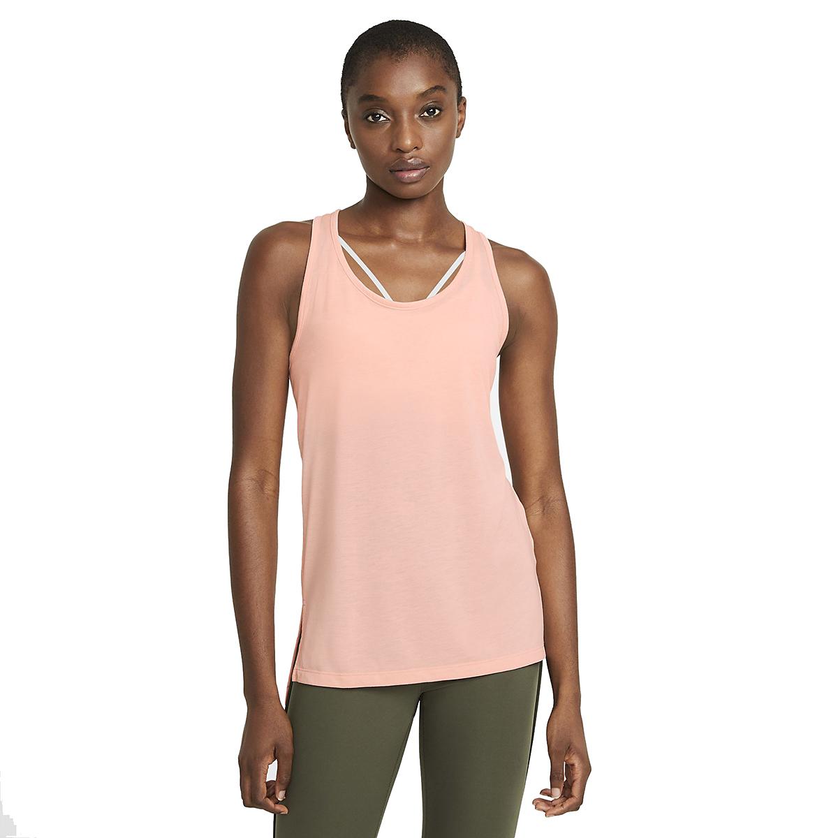 Women's Nike Yoga Layer Tank - Color: Arctic Orange - Size: XS, Arctic Orange, large, image 1