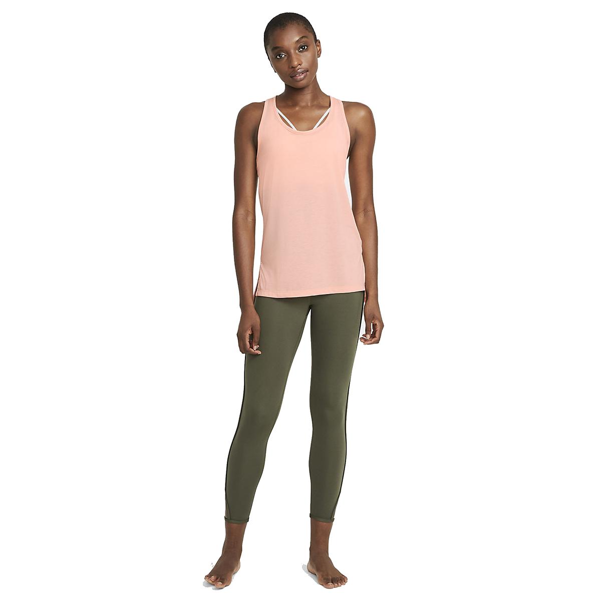 Women's Nike Yoga Layer Tank - Color: Arctic Orange - Size: XS, Arctic Orange, large, image 2
