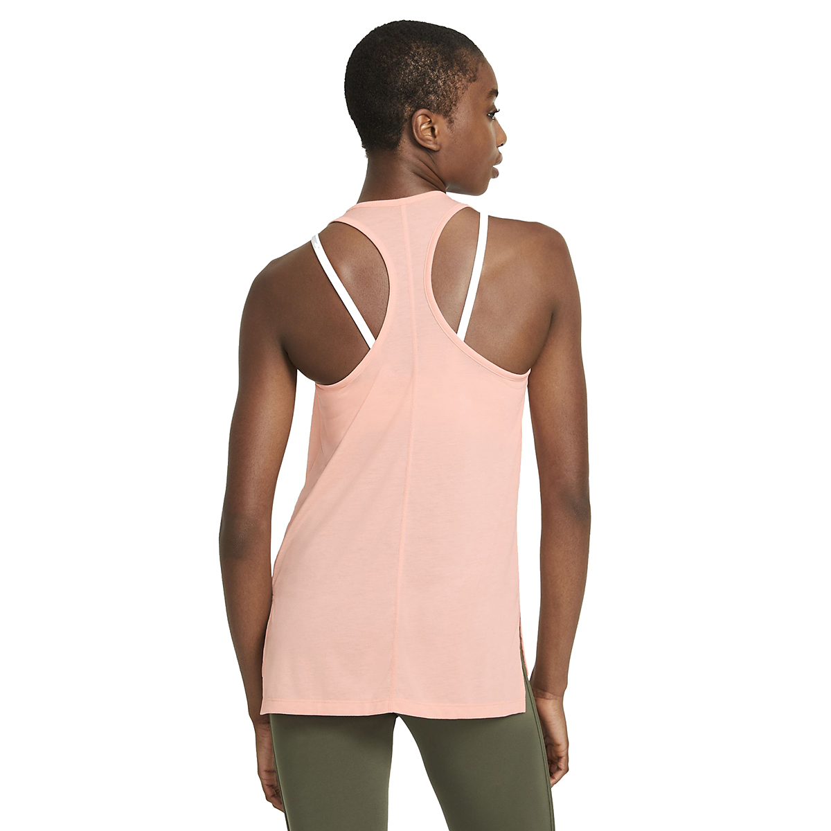 Women's Nike Yoga Layer Tank - Color: Arctic Orange - Size: XS, Arctic Orange, large, image 3