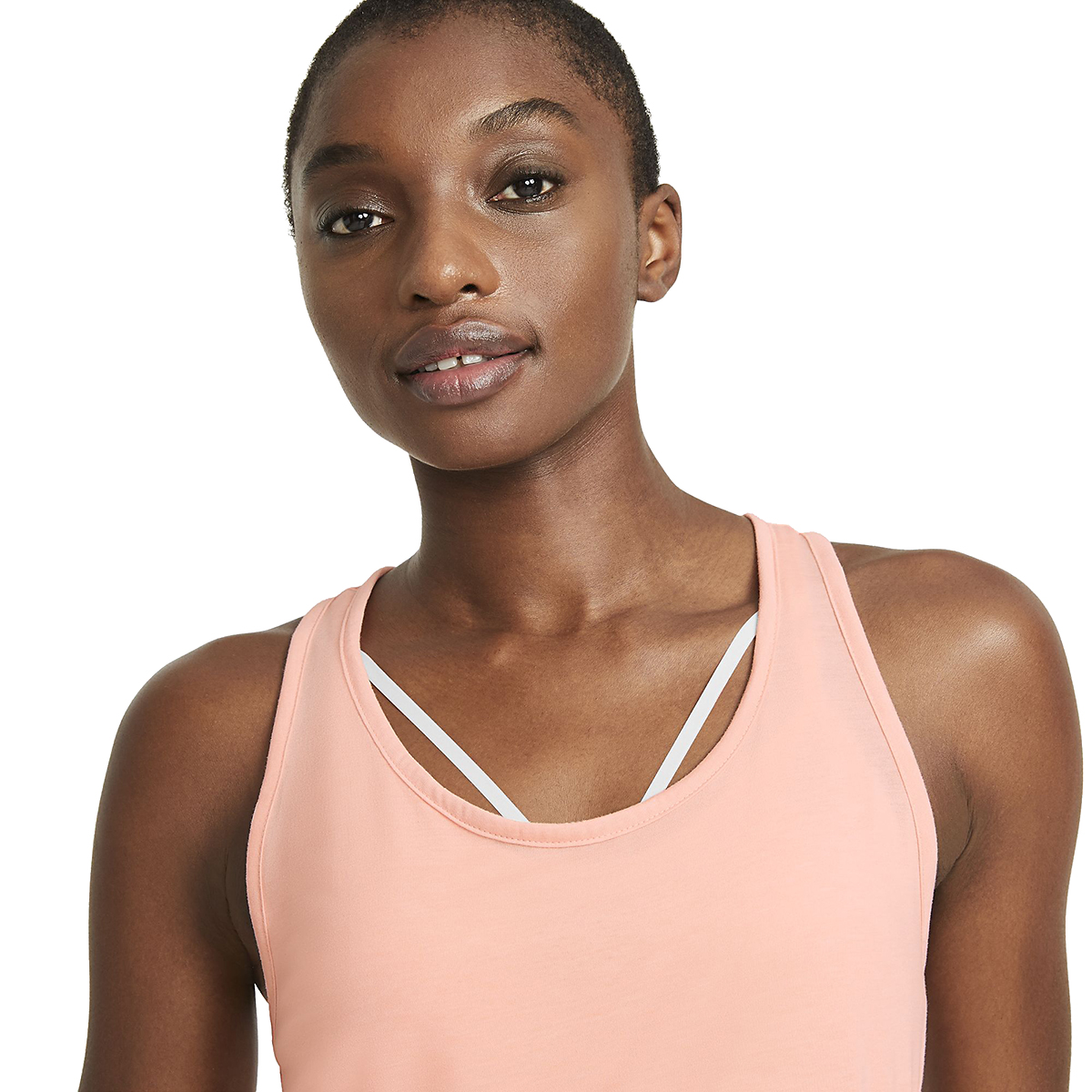 Women's Nike Yoga Layer Tank - Color: Arctic Orange - Size: XS, Arctic Orange, large, image 4