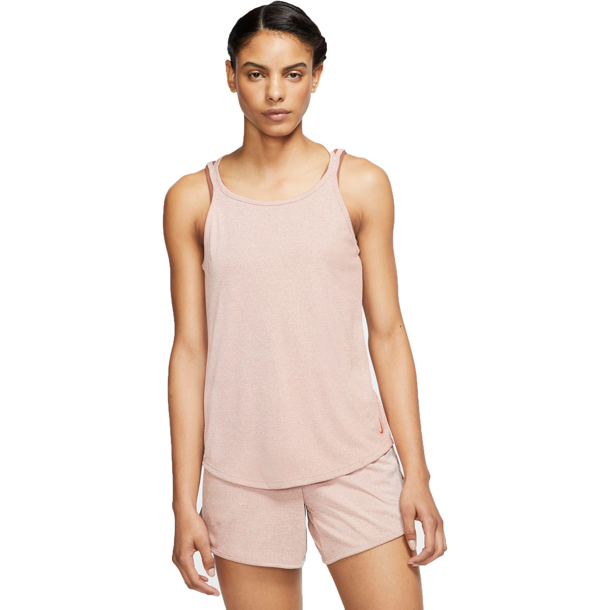 Women's Nike Yoga Tank - Color: Desert Orange/Htr/Desert Orange - Size: XS, Desert Orange/Heather/Desert Orange, large, image 1