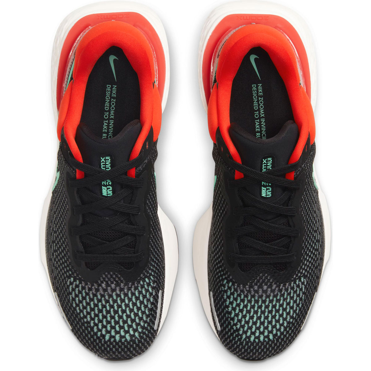 Men's Nike Zoomx Invincible Run FlyKnit Running Shoe - Color: Black/Green Glow/Chile Red - Size: 6 - Width: Regular, Black/Green Glow/Chile Red, large, image 3