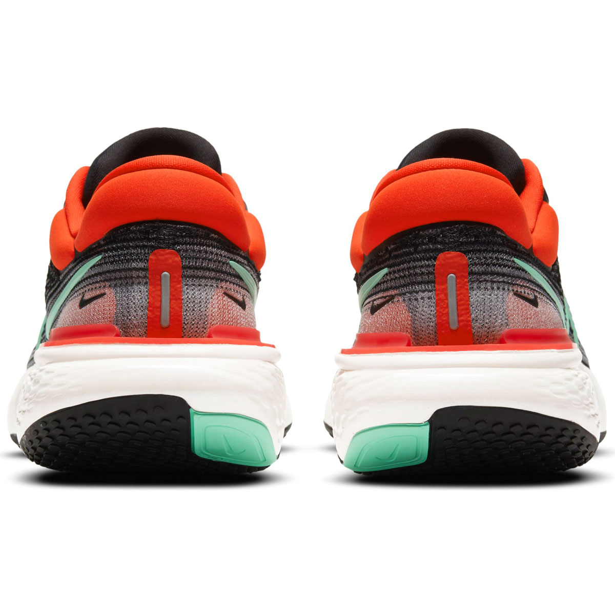 Men's Nike Zoomx Invincible Run FlyKnit Running Shoe - Color: Black/Green Glow/Chile Red - Size: 6 - Width: Regular, Black/Green Glow/Chile Red, large, image 4