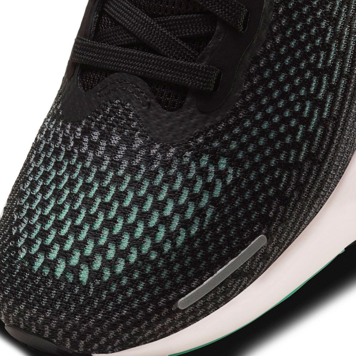 Men's Nike Zoomx Invincible Run FlyKnit Running Shoe - Color: Black/Green Glow/Chile Red - Size: 6 - Width: Regular, Black/Green Glow/Chile Red, large, image 6