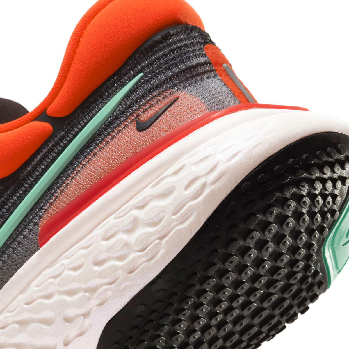 Men's Nike Zoomx Invincible Run FlyKnit Running Shoe - Color: Black/Green Glow/Chile Red - Size: 6 - Width: Regular, Black/Green Glow/Chile Red, large, image 7
