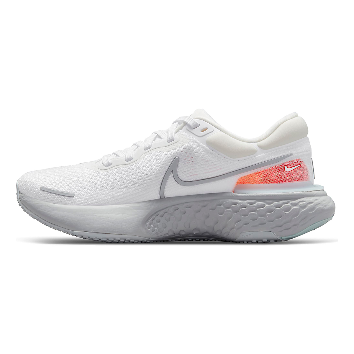 Men's Nike ZoomX Invincible Run Flyknit Running Shoe - Color: White/Metallic Silver/Pure Platinum - Size: 6 - Width: Regular, White/Metallic Silver/Pure Platinum, large, image 2