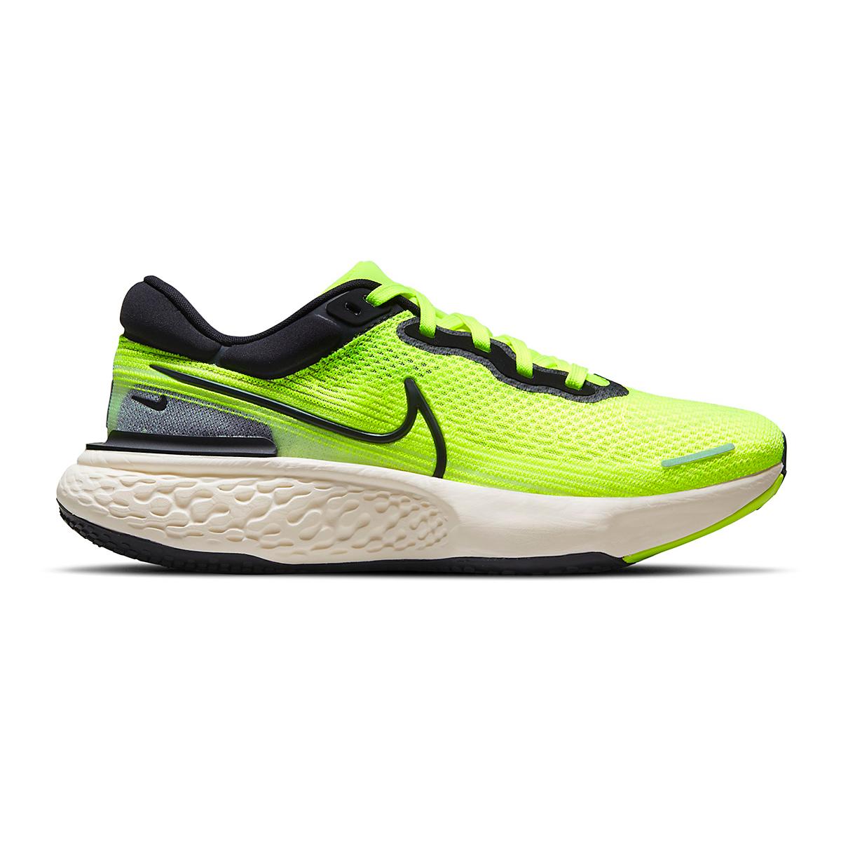 Men's Nike Zoomx Invincible Run FlyKnit Running Shoe - Color: Volt/Black/Barely Volt - Size: 6 - Width: Regular, Volt/Black/Barely Volt, large, image 1
