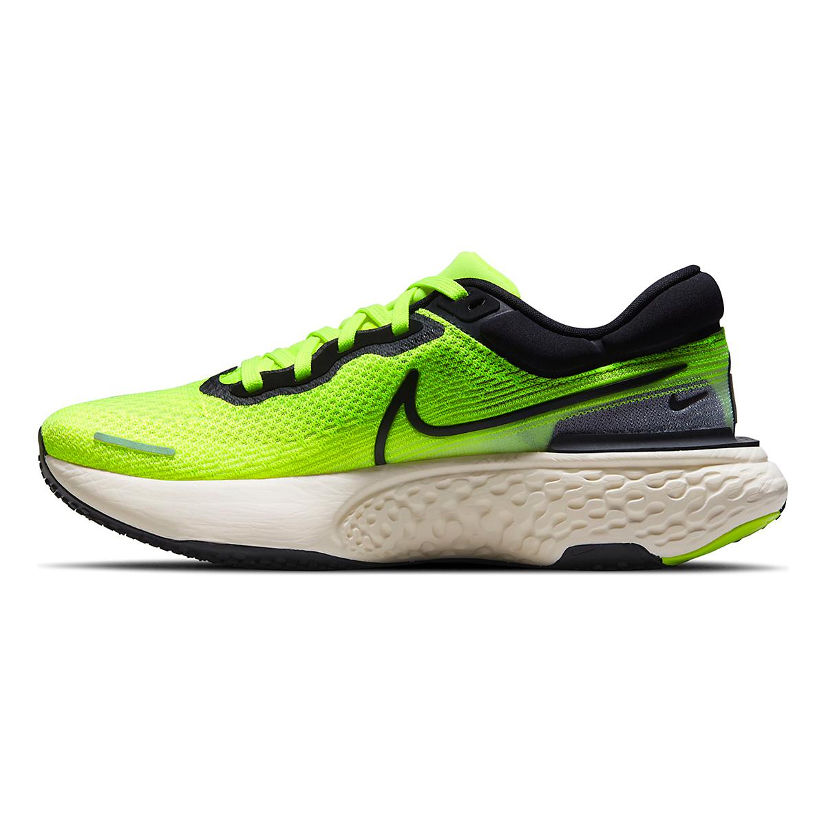 Men's Nike Zoomx Invincible Run FlyKnit Running Shoe - Color: Volt/Black/Barely Volt - Size: 6 - Width: Regular, Volt/Black/Barely Volt, large, image 2