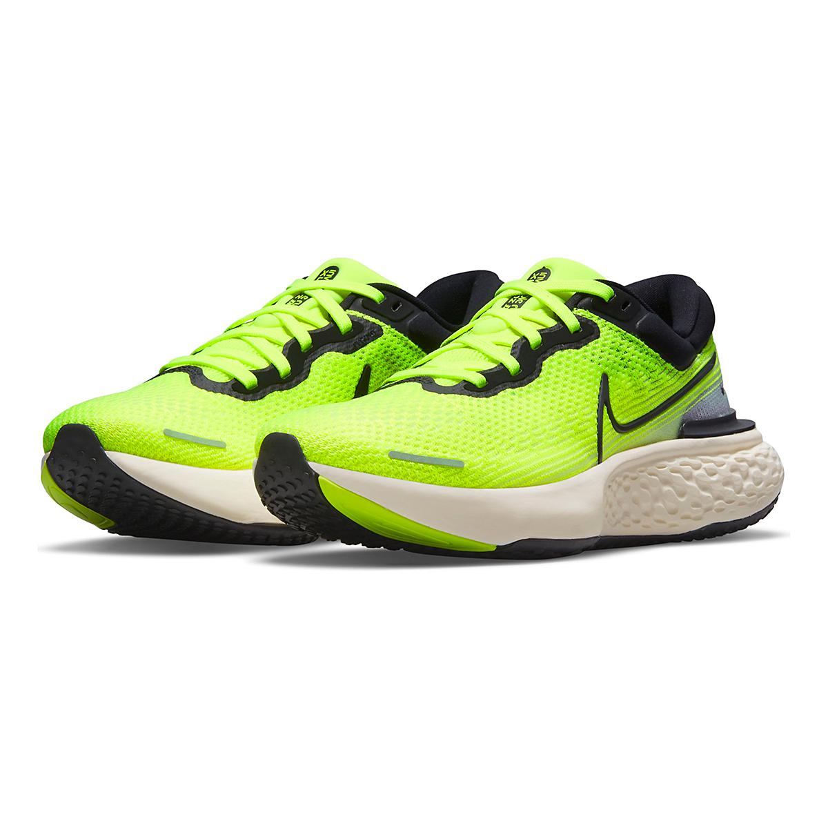 Men's Nike Zoomx Invincible Run FlyKnit Running Shoe - Color: Volt/Black/Barely Volt - Size: 6 - Width: Regular, Volt/Black/Barely Volt, large, image 3