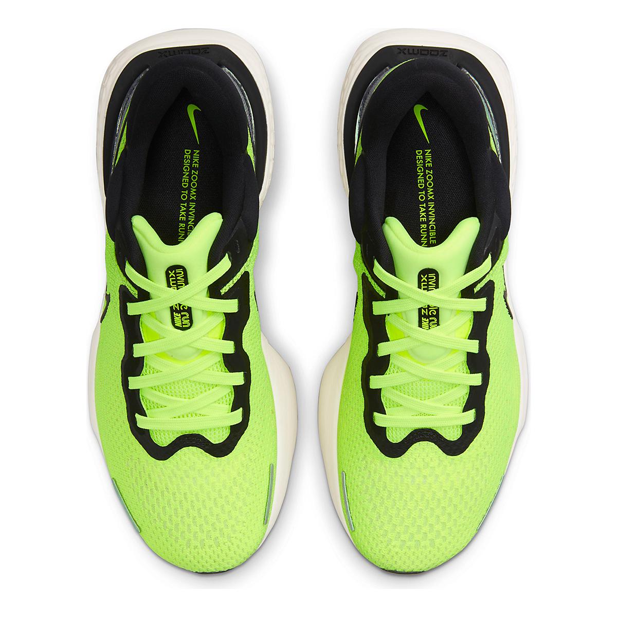 Men's Nike Zoomx Invincible Run FlyKnit Running Shoe - Color: Volt/Black/Barely Volt - Size: 6 - Width: Regular, Volt/Black/Barely Volt, large, image 4
