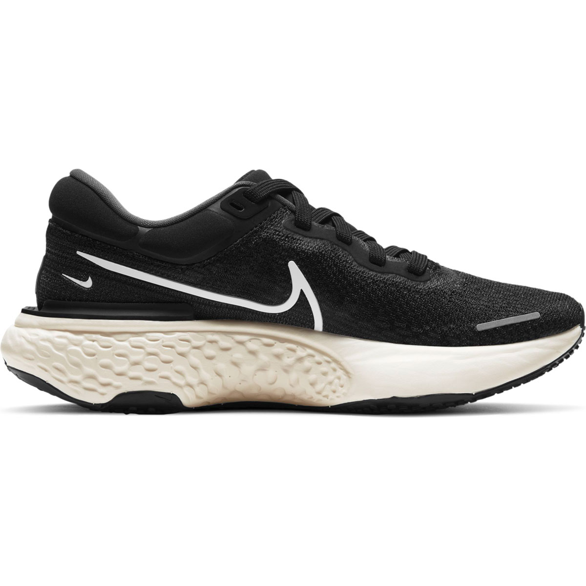 Women's Nike Zoomx Invincible Run FlyKnit Running Shoe - Color: Black/White/Iron Grey - Size: 5 - Width: Regular, Black/White/Iron Grey, large, image 1