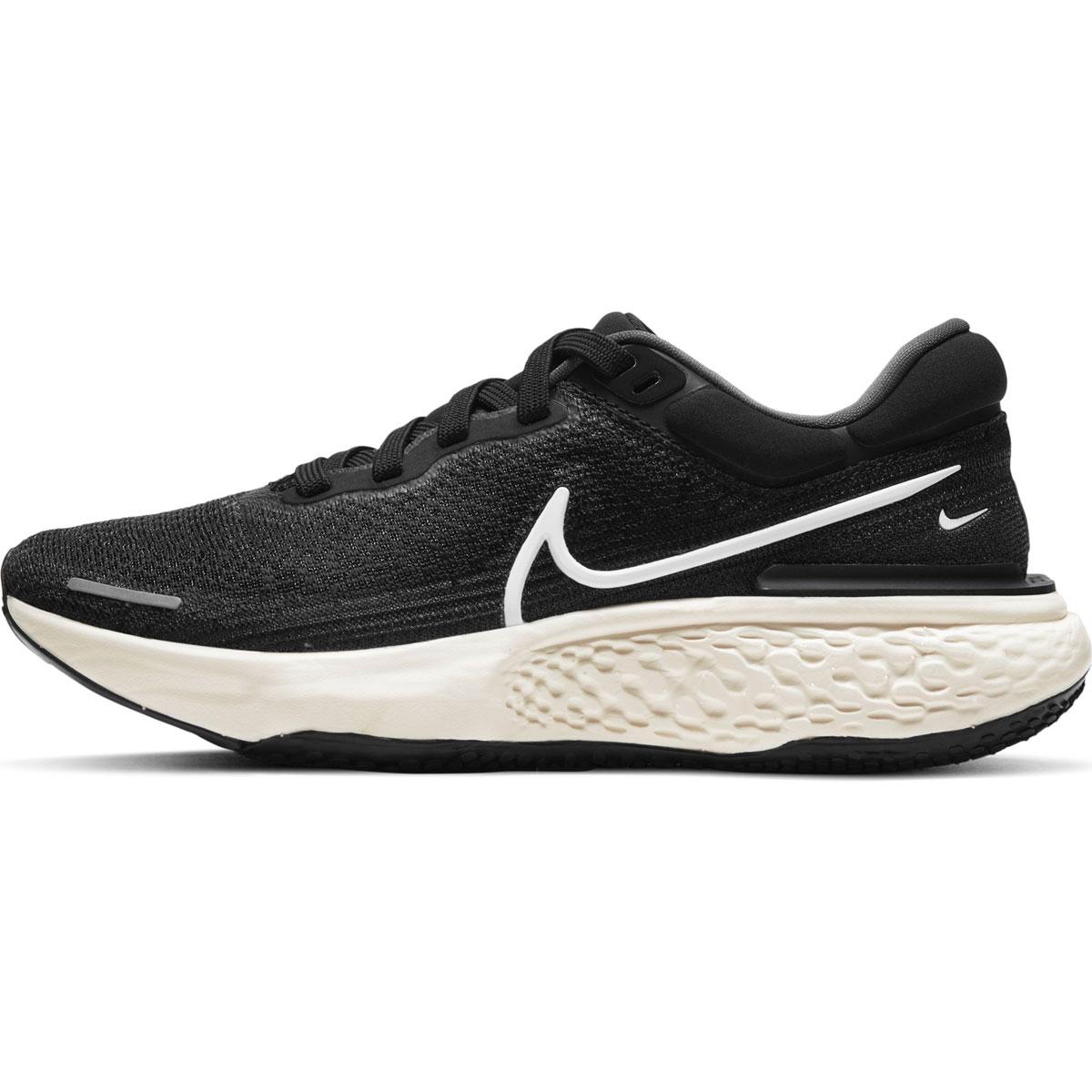 Women's Nike Zoomx Invincible Run FlyKnit Running Shoe - Color: Black/White/Iron Grey - Size: 5 - Width: Regular, Black/White/Iron Grey, large, image 2