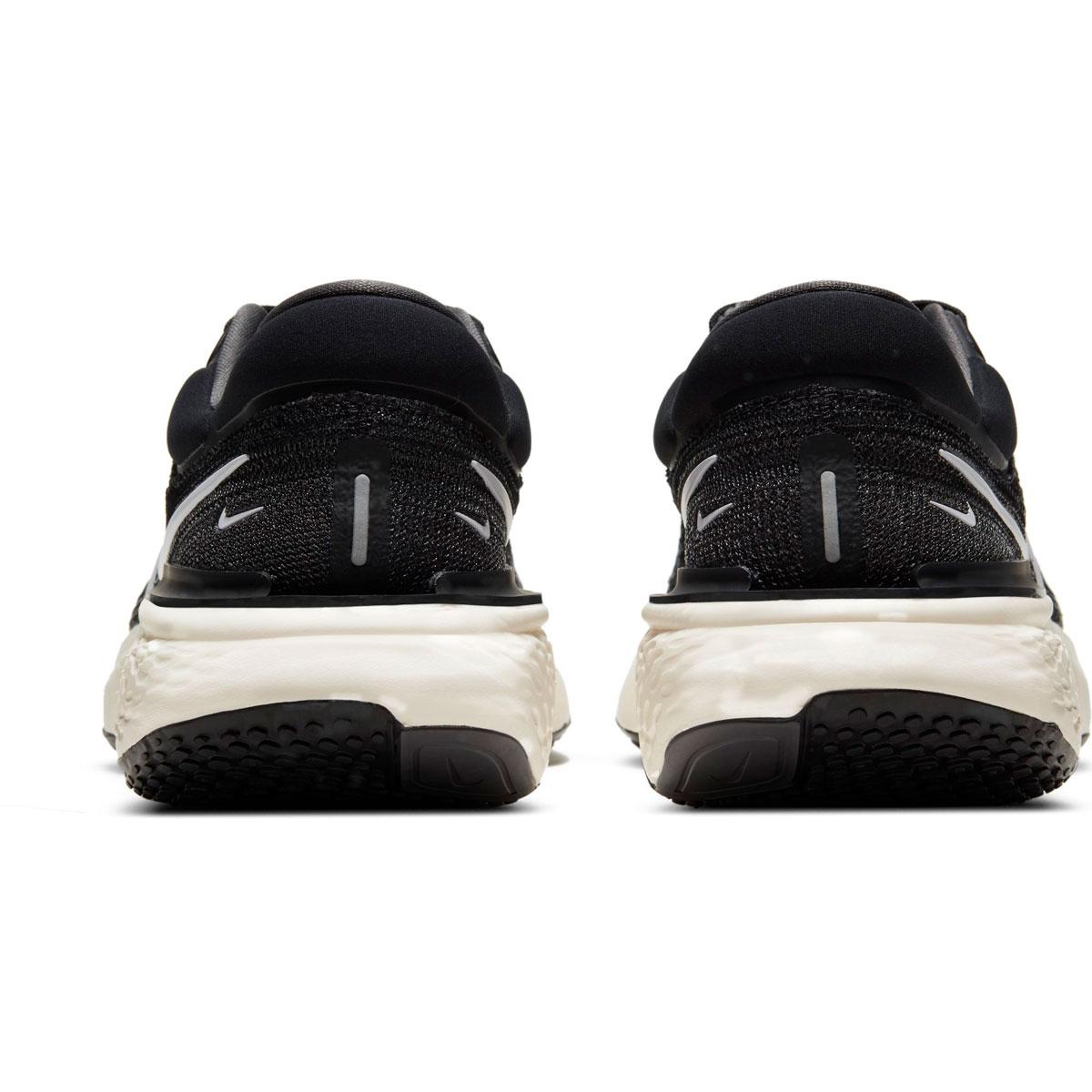 Women's Nike Zoomx Invincible Run FlyKnit Running Shoe - Color: Black/White/Iron Grey - Size: 5 - Width: Regular, Black/White/Iron Grey, large, image 4