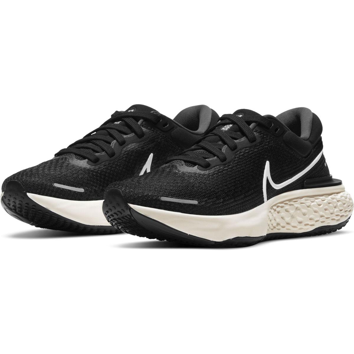 Women's Nike Zoomx Invincible Run FlyKnit Running Shoe - Color: Black/White/Iron Grey - Size: 5 - Width: Regular, Black/White/Iron Grey, large, image 5