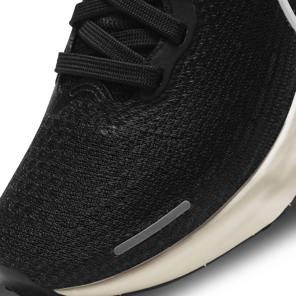Women's Nike Zoomx Invincible Run FlyKnit Running Shoe - Color: Black/White/Iron Grey - Size: 5 - Width: Regular, Black/White/Iron Grey, large, image 7
