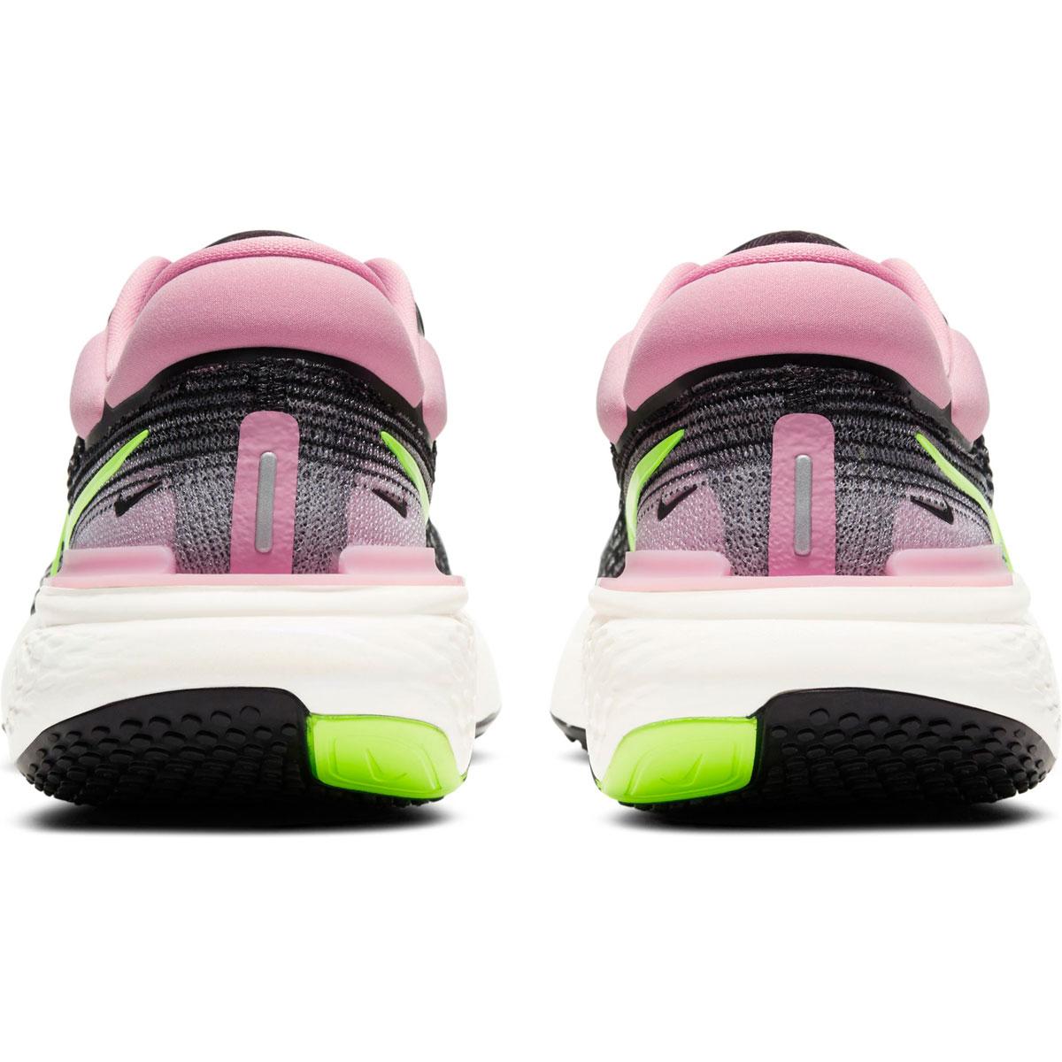 Women's Nike Zoomx Invincible Run FlyKnit Running Shoe - Color: Black/Cyber/Elemental Pink - Size: 6 - Width: Regular, Black/Cyber/Elemental Pink, large, image 5