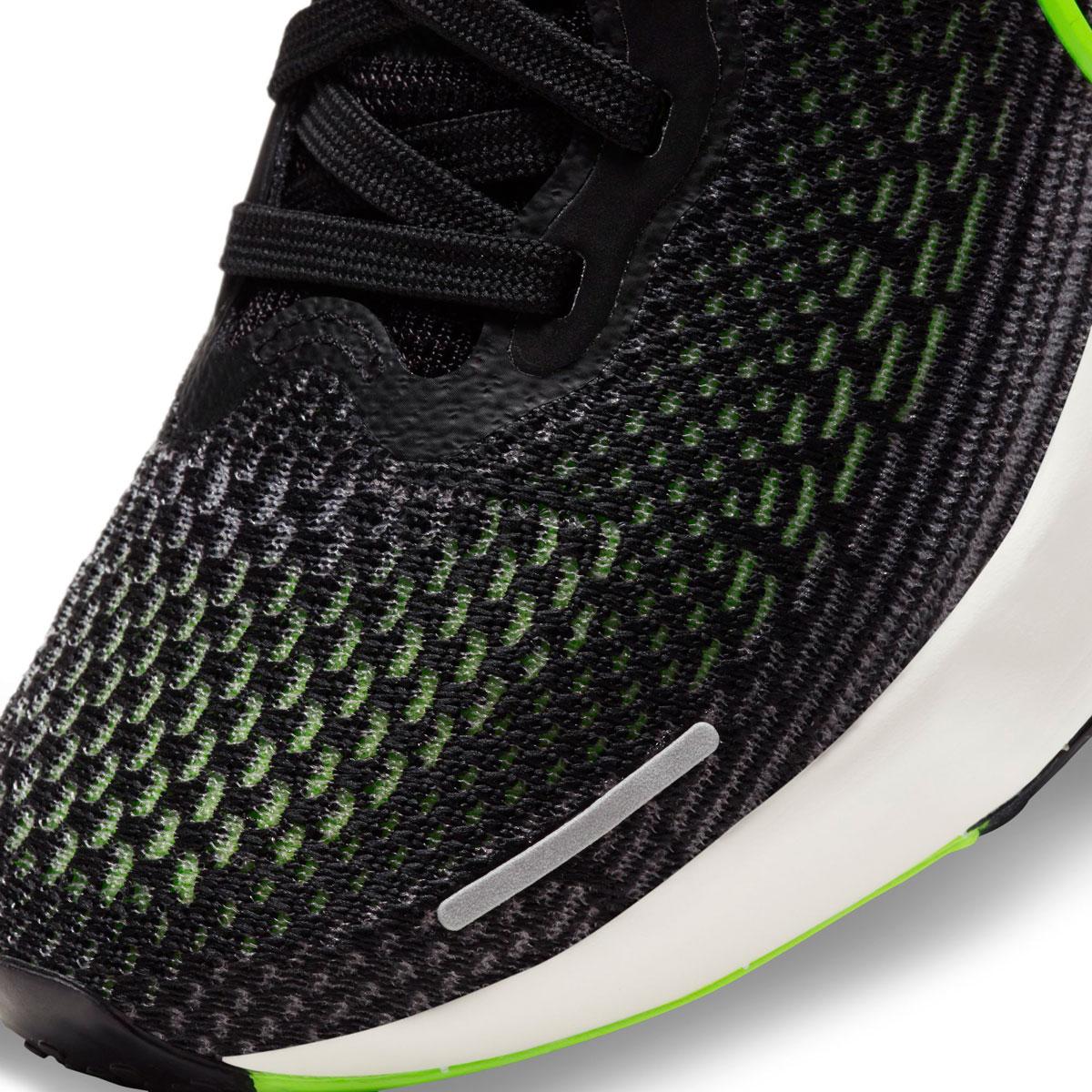 Women's Nike Zoomx Invincible Run FlyKnit Running Shoe - Color: Black/Cyber/Elemental Pink - Size: 6 - Width: Regular, Black/Cyber/Elemental Pink, large, image 7
