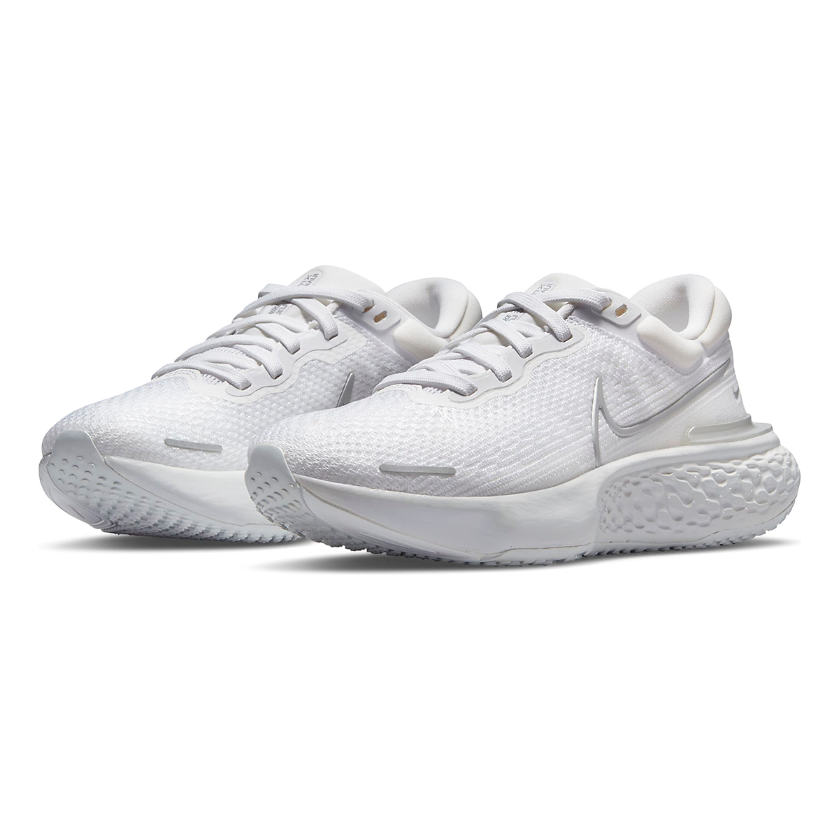 Women's Nike ZoomX Invincible Run Flyknit - Color: White/Metallic Silver/Pure Platinum - Size: 5 - Width: Regular, White/Metallic Silver/Pure Platinum, large, image 3