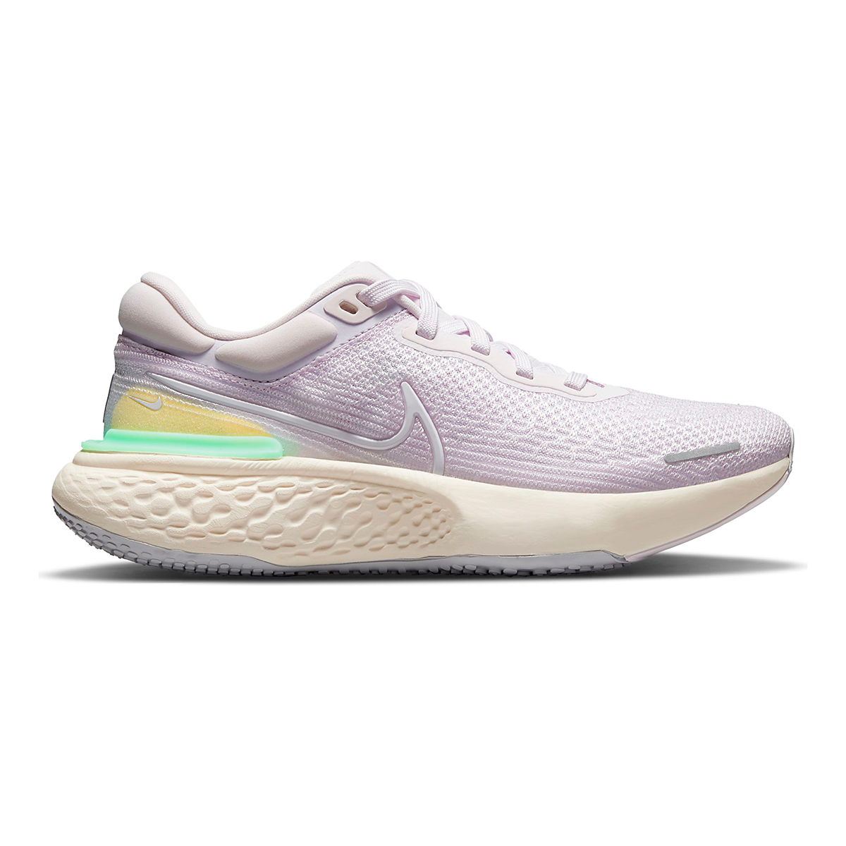 Women's Nike Zoomx Invincible Run FlyKnit Running Shoe - Color: Light Violet/White/Infinite Lilac - Size: 5 - Width: Regular, Light Violet/White/Infinite Lilac, large, image 1